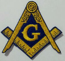 Freemason Masonic Gold and Blue Iron on Patch (Item# P10)