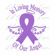 IN LOVING MEMORY OF OUR ANGEL VINYL DECAL STICKER INFANCY PREGNANCY BABY LOSS