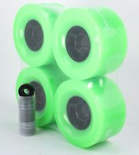 Longboard Wheels and Bearings 90mm Neon Green Blend and Abec7 Black