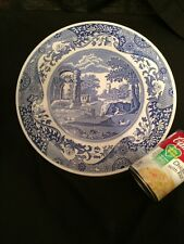 SPODE Blue Italian Cake Plate Cheese Plate Platter Arched Dome Serving Tray