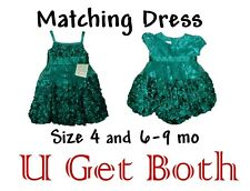 LITTLE GIRLS MATCHING DRESS 4 & 6-9 MO HOLIDAY XMAS WEDDING PICTURES KIDS YOUTH