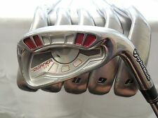 Used RH Taylormade Burner HT 5-PW Iron Set Burner 85 Stiff flex Steel Irons