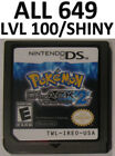 Pokemon Black Version 2 All 649 Event Shiny DS Lite DSi 3DS XL Game Unlocked