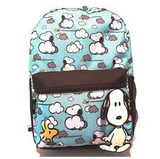 NWT Girls Blue SNOOPY PEANUTS BACKPACK school books bag tote 16 in IN THE CLOUDS