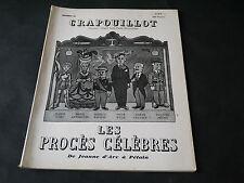 CRAPOUILLOT N°26 LES PROCÈS CÉLÈBRES DE JEANNE D'ARC A PÉTAIN  1955