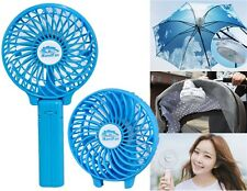 Portable Mini Rechargable Fan Emergency Children Friendly with Foldable Handle