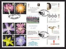 2004 FLOWERS AND ROYAL SOCIETY ON DOUBLE DATED DW28 FDC
