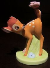 RARE Disney Grolier Bambi Butterfly Ceramic Porcelain Figure Statue Display