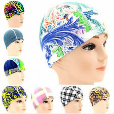 Polyester Spandex Swim Flexible Cap Unisex Adult Waterproof Shower Bathing Hat