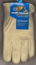 Wells Lamont Men's Grain Cowhide Leather Winter Work Glove Thermofilled Beige L
