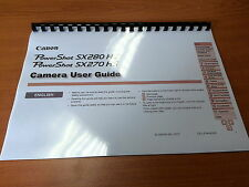 CANON POWERSHOT SX270HS/SX280 PRINTED INSTRUCTION MANUAL USER GUIDE 197 PAGES A5