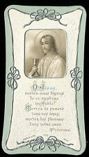 ANTIQUE HOLY CARD OF JESUS CHRIST DATED 1907