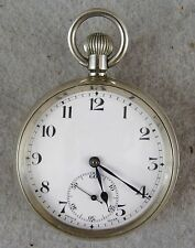 Antique Swiss Made 1930-40 Revue Thonnen Silver Color Metal Pocket Watch