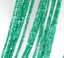 2MM EMERALD GREEN JADE GEMSTONE ROUND 2MM LOOSE BEADS 16""