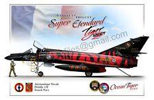 Super Etendard - Tiger Meet - Ocean Tiger 2008 French Navy - Aircraft Poster