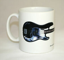 Guitar Mug. Phil Lynott's Fender P Bass illustration.