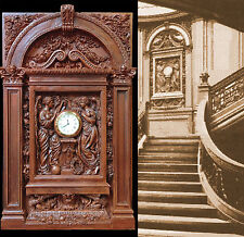 RMS TITANIC Grand Staircase Clock-White Star Line-Complete architecture surround