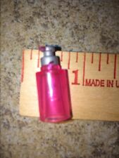 Barbie Dollhouse Miniature Pink Silver Clear Hand Lotion Soap Dispenser