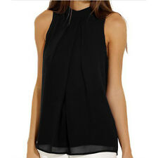 Womens Ladies Casual Sleeveless Summer Chiffon Vest T Shirt Blouse Loose Tops