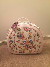 Betsey Johnson Blush Floral Train Case Weekender Bag Luggage