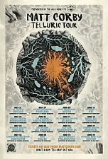 "MATT CORBY ""TELLURIC TOUR"" 2016 CONCERT POSTER- Indie Rock, Folk, Acoustic Music"