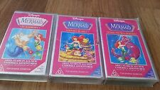 THE LITTLE MERMAID X 3 TITLES VHS VIDEO'S WALT DISNEY