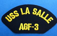 Vintage 1990's US Navy USS La Salle AGF-3 Iron On Jacket Hat Patch Crest 147