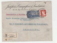 STORIA POSTALE 1931 REGNO L.1,25+1,75 SU RACC/EX PADOVA 29/5 Z/5288