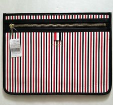 Thom Browne Red, White, Blue Stripe Leather Document Holder Portfolio Clutch NWT