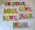 Shabby Chic Word Clothes Pegs / Key Hooks