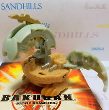 Bakugan Naga Dragonoid Gray & Tan Dual Attribute B2 Bakuswap 620G & cards