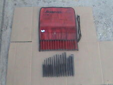Snap on tools 15 piece lot punch and chisel wIth gauge + roll pouch