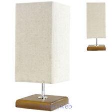 Retro Tischlampe Tischleuchte Nachttischlampe Nachttischleuchte Lampe Holz Optik