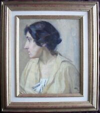 French School  Portrait c1910 Oil Painting
