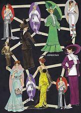 # GLANZBILDER # Bogen aus Holland 15 , feine Damen, nostalgische Motive