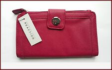 Kenneth Cole Reaction Signature Checkbook Pocket Wallet Razzle Raspberry NWT/$50