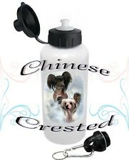 Chinese Crested Dog Water Bottle Children Adults Pets Sports by paws2print
