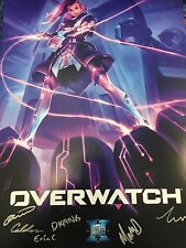 BlizzCon 2016 Overwatch Sombra Dev Signed Poster Rare