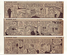 Gasoline Alley by Dick Moores - 25 large daily comic strips from July 1966