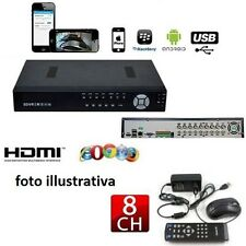 DVR  8 CH CANALI AUDIO VIDEO LAN NETWORK H.264 REGISTRATORE TELECAMERE