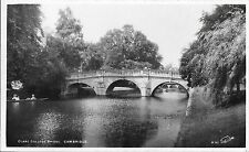 # 970 Clare's Bridge Cambridge VGC Unused Real Photo Walter Scott