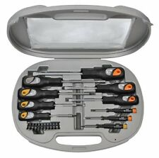 CK TOOLS AVIT AV05013 20 PIECE MIXED SOFT GRIP SCREWDRIVER SET IN STORAGE CASE