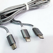 3 In 1 Multi Charging Cable Cable Type C, Mini USB Cabel, Lightning Cable