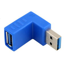 Right Angle USB 3.0 Type A Male to Female Plug Connector Adapter Converter F5
