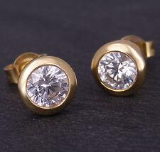 Ohrstecker in 750/18K Gelbgold 2 Diamanten Brillant - Schliff ca. 1,00ct. W / SI