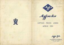 Brochure Illustrato Prodotti Fotografici Agfacolor Aprile Listino Prezzi 1915