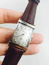 Vintage mens 14 k Solid Gold Diamond Dial Longines Watch