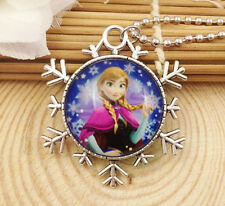 Hot FROZEN PENDANT Silver Plated CHAIN NECKLACE ROYAL PRINCESS Y4