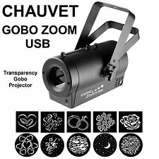 CHAUVET DJ GOBO ZOOM USB LED WI-FI READY TRANSPARENCY PROJECTOR $15 INSTANT OFF