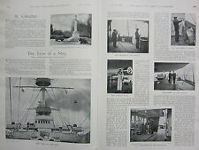 1898 BOER WAR ERA PRINT EYES ON THE SHIP OFFICERS ON WATCH MIDSHIPMEN SIGNALMAN